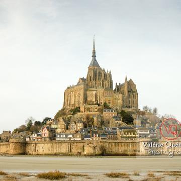 Mont-St-Michel et sa baie à marée basse - Réf : VQFR50-0011 (Q1)