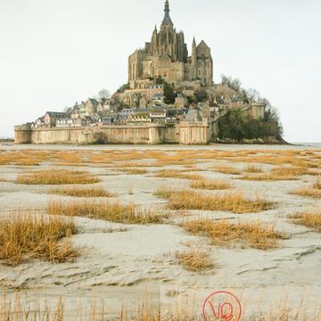 Mont-St-Michel et sa baie à marée basse - Réf : VQFR50-0015 (Q1)