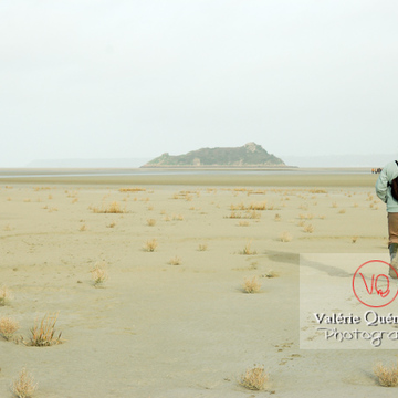 Balade dans la baie du Mont-St-Michel à marée basse - Réf : VQFR50-0017 (Q1)