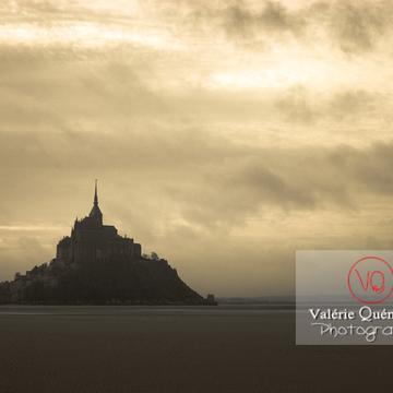 Mont-St-Michel et sa baie à marée basse / Normandie - Réf : VQFR50-0029-TA (Q1)