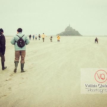 Balade à marée basse dans la baie du Mont-St-Michel / Normandie - Réf : VQFR50-0040-TV (Q1)