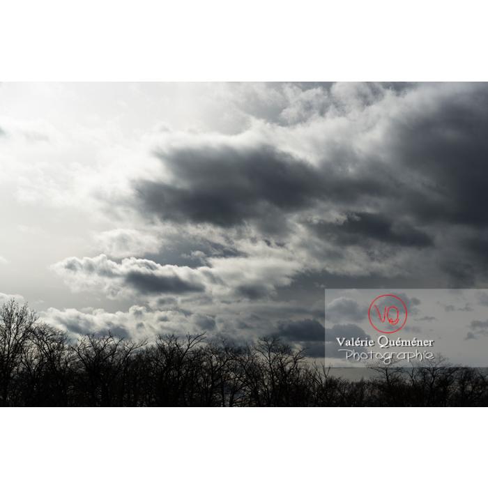 Cumulus sur un fond de ciel gris d'altostratus - Réf : VQ-CIEL-1538 (Q3)