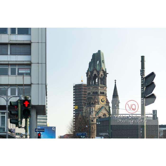 Ruine de l'église Kaiser Wilhem Gedachtniskirche, Berlin / Allemagne - Réf : VQALL_BL-0018 (Q3)