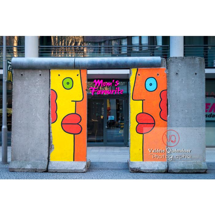 Vestiges du mur de Berlin, près de Potsdamer Platz, Berlin / Allemagne - Réf : VQALL_BL-0062 (Q3)