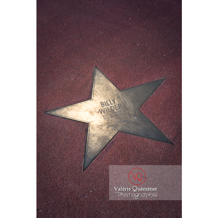 Détail d'une étoile du boulevard des stars, Potsdamer Straße, Berlin / Allemagne - Réf : VQALL_BL-0087 (Q3)