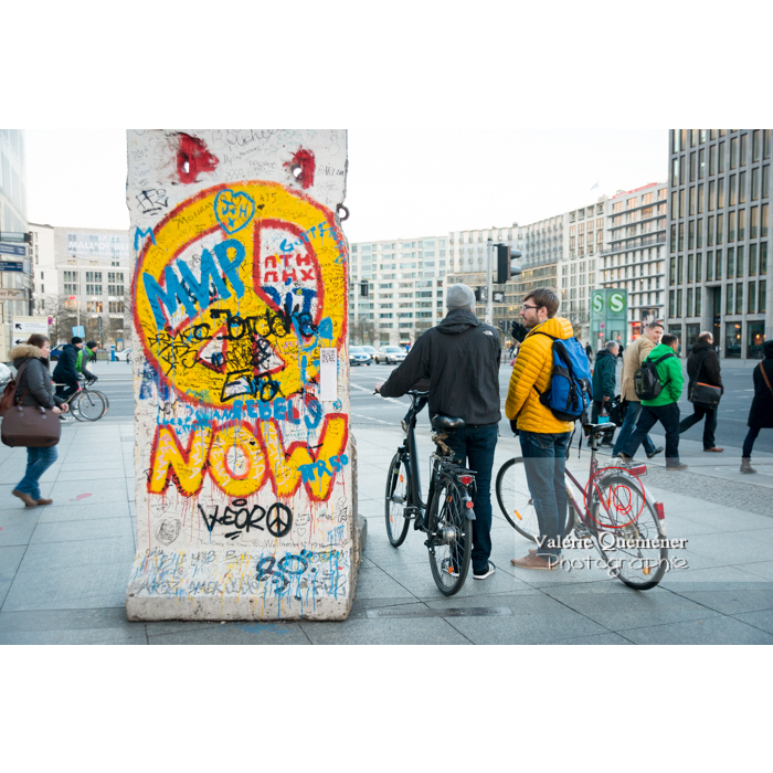 Vestiges du mur de Berlin, Potsdamer Platz, Berlin / Allemagne - Réf : VQALL_BL-0103 (Q3)
