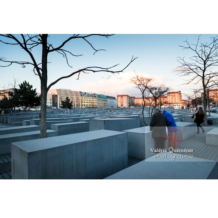 Mémorial aux juifs 'Holocaust Mahnmal' par l'architecte Peter Eisenman, Berlin / Allemagne - Réf : VQALL_BL-0111 (Q3)