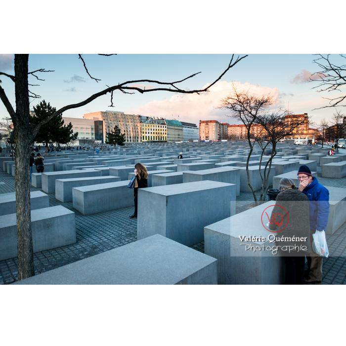 Mémorial aux juifs 'Holocaust Mahnmal' par l'architecte Peter Eisenman, Berlin / Allemagne - Réf : VQALL_BL-0112 (Q3)