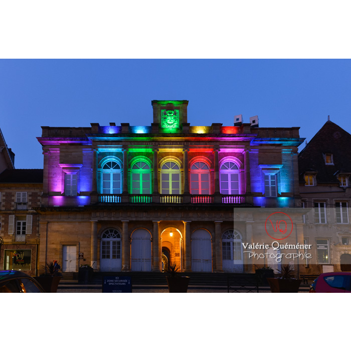 Mairie de Moulins éclairée de nuit / Allier / Auvergne-Rhône-Alpes - Réf : VQFR03-0428 (Q3)