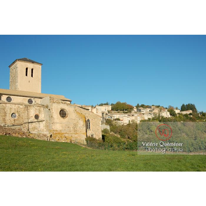 Église St-Michel du village de Saissac, en Pays Cathare / Aude / Occitanie - Réf : VQFR11-0087 (Q1)