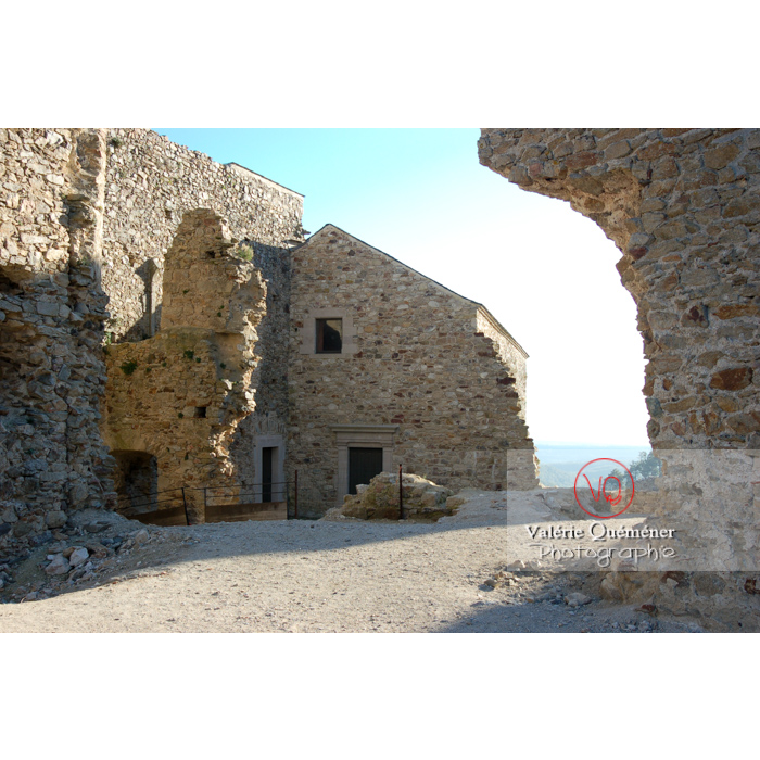 Ruines du château de Saissac en Pays Cathare / Aude / Occitanie - Réf : VQFR11-0089 (Q1)