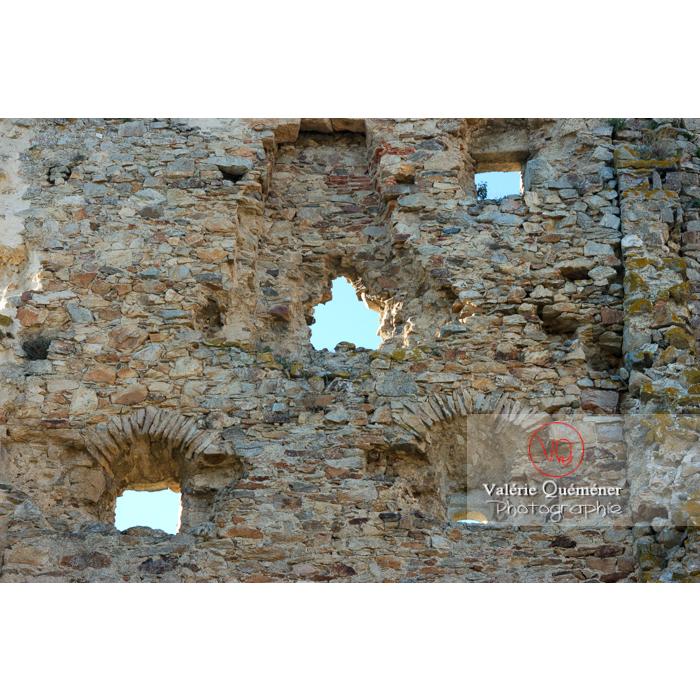 Ruines du château de Saissac en Pays Cathare / Aude / Occitanie - Réf : VQFR11-0095 (Q1)