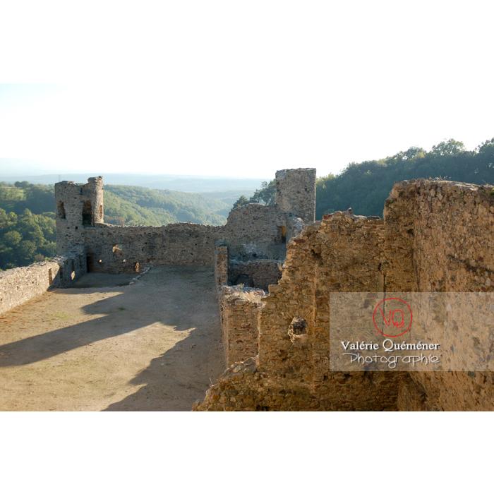 Ruines du château de Saissac en Pays Cathare / Aude / Occitanie - Réf : VQFR11-0101 (Q1)
