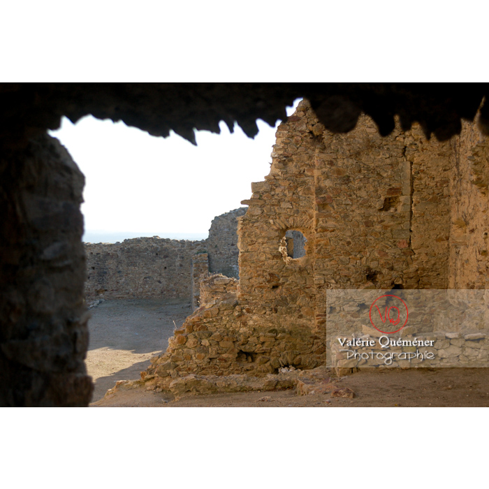 Ruines du château de Saissac en Pays Cathare / Aude / Occitanie - Réf : VQFR11-0104 (Q1)