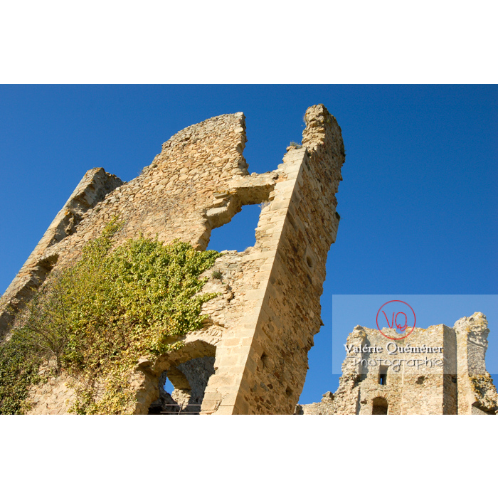Ruines du château de Saissac en Pays Cathare / Aude / Occitanie - Réf : VQFR11-0106 (Q1)