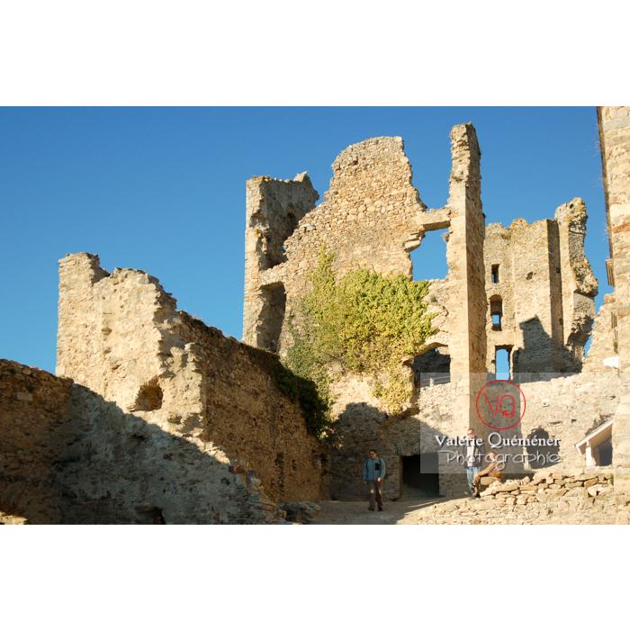 Ruines du château de Saissac en Pays Cathare / Aude / Occitanie - Réf : VQFR11-0108 (Q1)