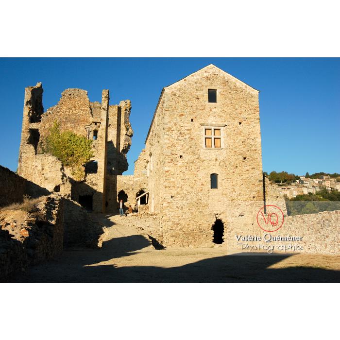 Ruines du château de Saissac en Pays Cathare / Aude / Occitanie - Réf : VQFR11-0109 (Q1)