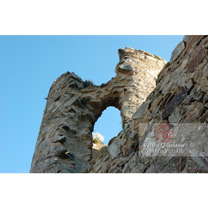Ruines du château de Saissac en Pays Cathare / Aude / Occitanie - Réf : VQFR11-0110 (Q1)
