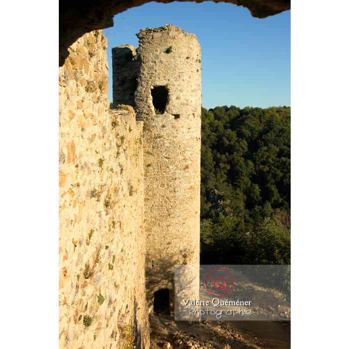 Tour du château de Saissac en Pays Cathare / Aude / Occitanie - Réf : VQFR11-0112 (Q1)
