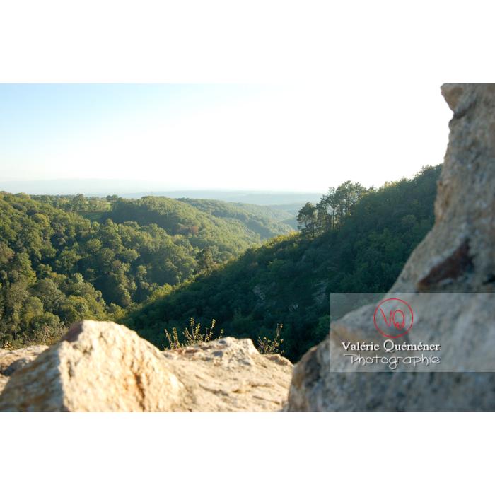 Panorama depuis le château de Saissac en Pays Cathare / Aude / Occitanie - Réf : VQFR11-0113 (Q1)
