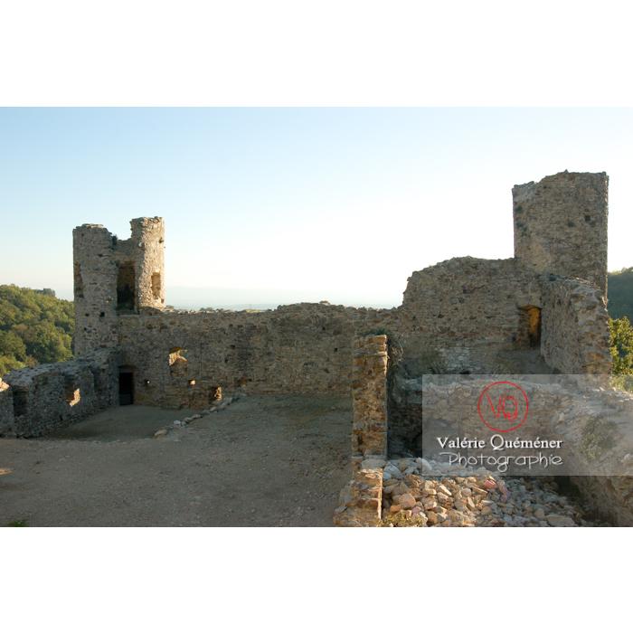 Ruines du château de Saissac en Pays Cathare / Aude / Occitanie - Réf : VQFR11-0115 (Q1)
