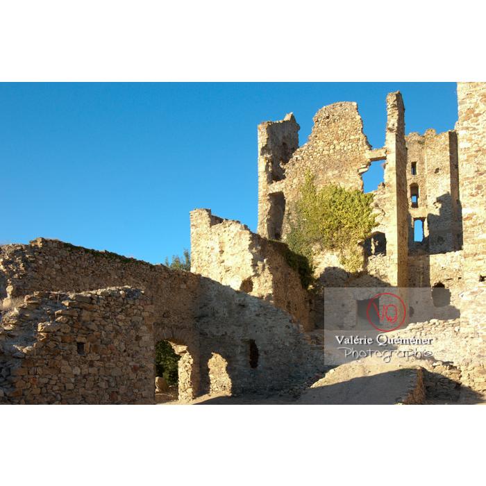 Ruines du château Cathare de Saissac, Montagne Noire et Pays Cathare / Aude / Occitanie - Réf : VQFR11-0116 (Q1)