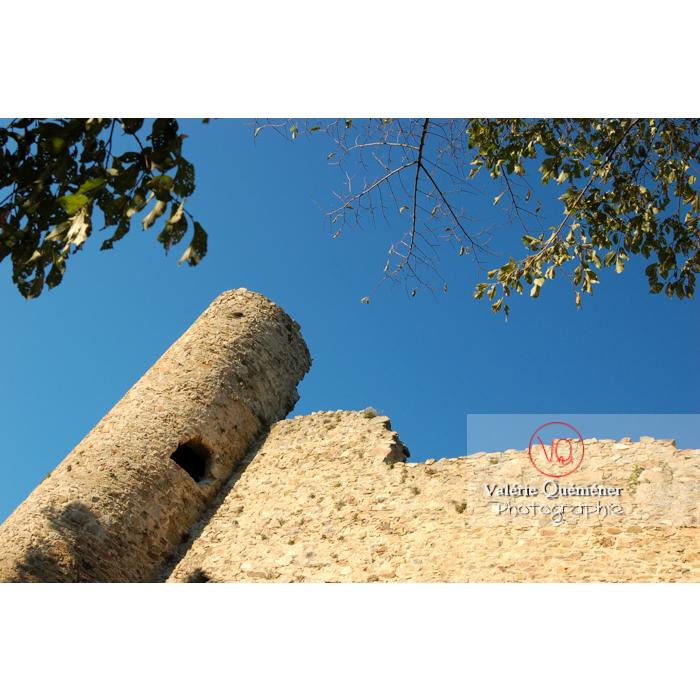 Détail d'une tour du château de Saissac en Pays Cathare / Aude / Occitanie - Réf : VQFR11-0118 (Q1)