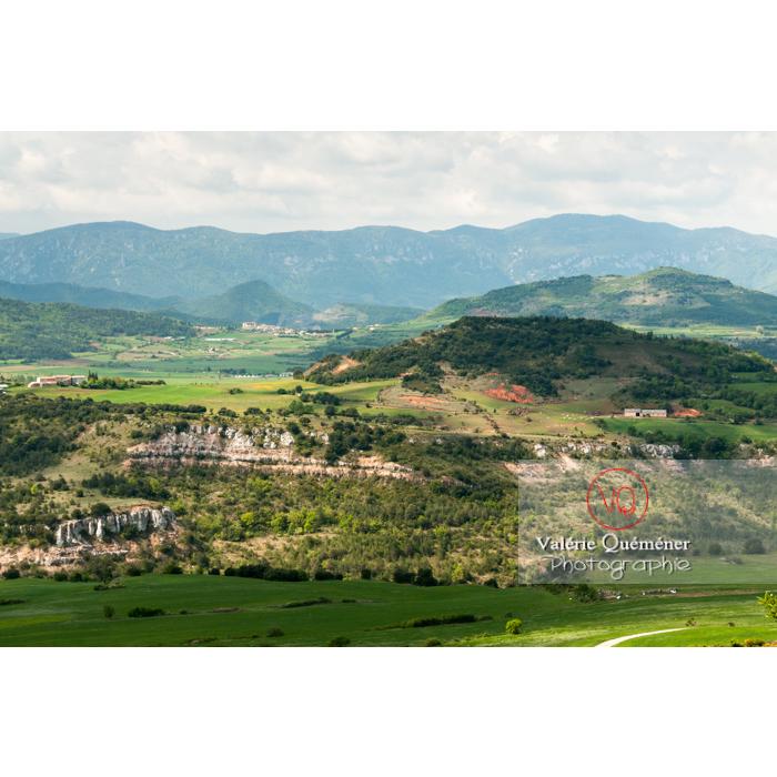 Paysage du massif des Corbières depuis le village de Rennes-le-Château / Aude / Occitanie - Réf : VQFR11-0145 (Q2