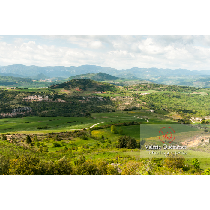Paysage du massif des Corbières depuis le village de Rennes-le-Château / Aude / Occitanie - Réf : VQFR11-0146 (Q2)