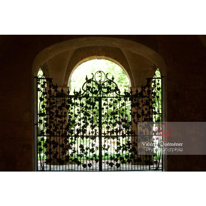 Grille en fer forgé de l'Abbaye de Fontfroide (MH) / Aude / Occitanie - Réf : VQFR11-0184 (Q2)