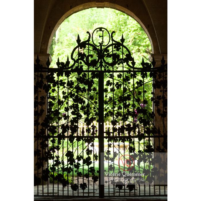 Grille en fer forgé de l'Abbaye de Fontfroide (MH) / Aude / Occitanie - Réf : VQFR11-0185 (Q2)