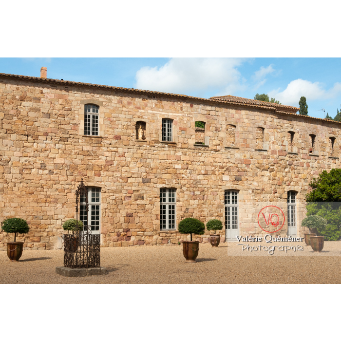 Cour de travail ou cour Louis XIV de l'Abbaye de Fonfroide / Aude / Occitanie - Réf : VQFR11-0187 (Q3)