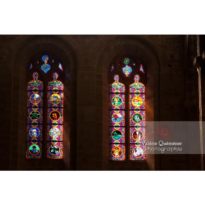 Vitraux de l'Abbaye de Fontfroide (MH) / Aude / Occitanie - Réf : VQFR11-0193 (Q2)