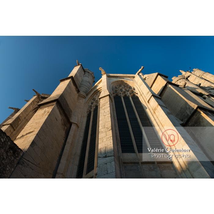 Grandeur gothique de la cathédrale St-Just-et-St-Pasteur, à Narbonne - Réf : VQFR11-0407 (Q3)