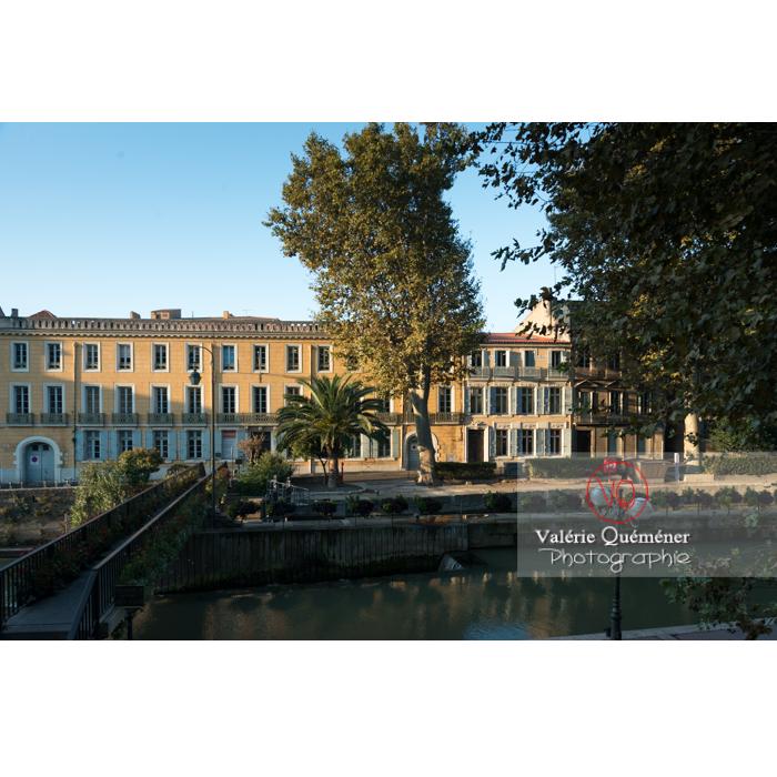 Écluse de Narbonne sur le canal de la Robine / Aude / Occitanie - Réf : VQFR11-0412 (Q3)