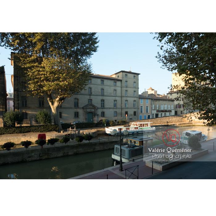 Écluse de Narbonne sur le canal de la Robine / Aude / Occitanie - Réf : VQFR11-0413 (Q3)