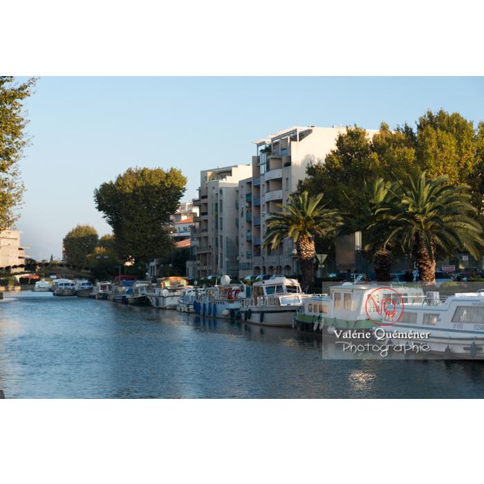 Canal de la Robine passant à Narbonne / Aude / Occitanie - Réf : VQFR11-0417 (Q3)