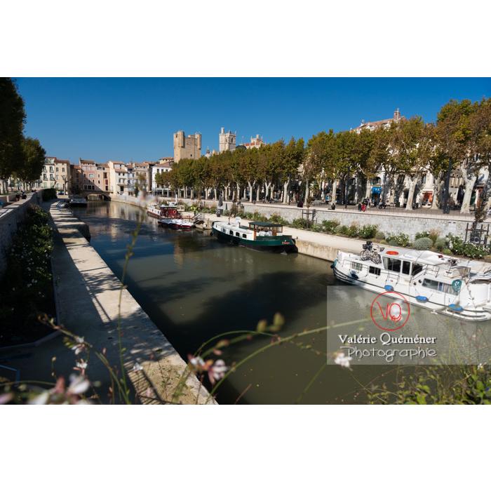 Canal de la Robine à Narbonne / Aude / Occitanie - Réf : VQFR11-0419 (Q3)