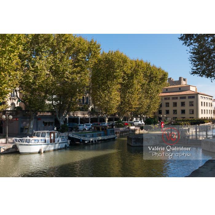 Écluse de Narbonne sur le canal de la Robine / Aude / Occitanie - Réf : VQFR11-0422 (Q3)