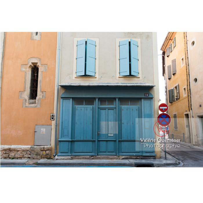 Ancienne vitrine d'échoppe à Narbonne / Aude / Occitanie - Réf : VQFR11-0428 (Q3)