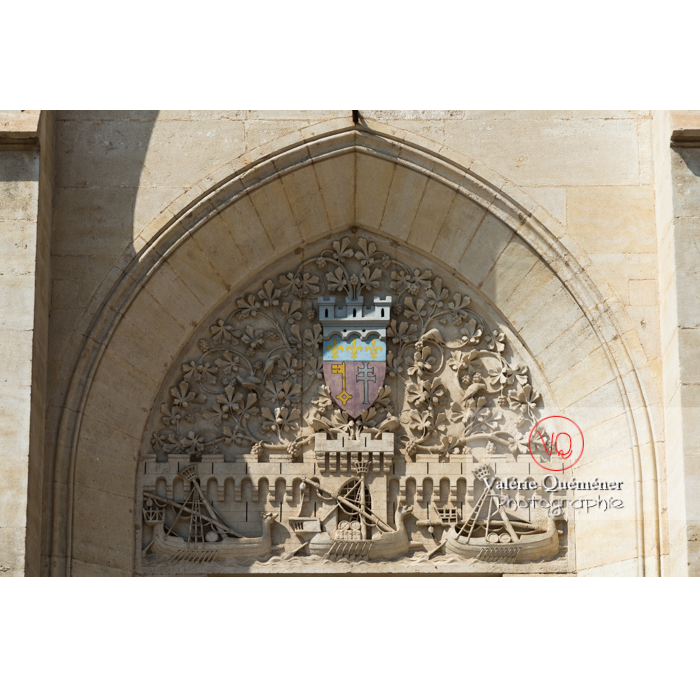Bas-relief de l'hôtel de ville de Narbonne / Aude / Occitanie - Réf : VQFR11-0435 (Q3)