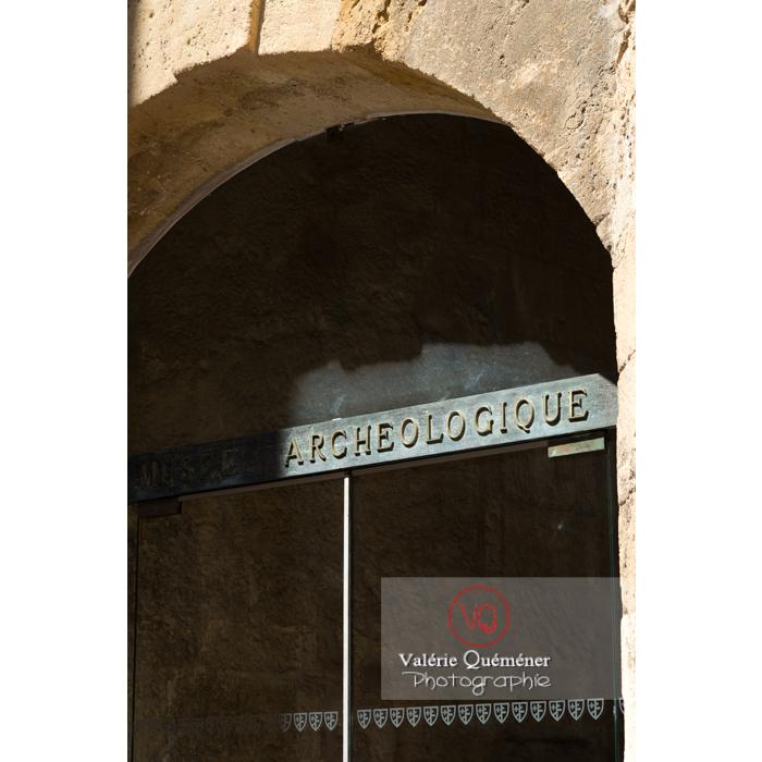 Détail du musée archéologique du palais des archevêques, à Narbonne / Aude / Occitanie - Réf : VQFR11-0442 (Q3)