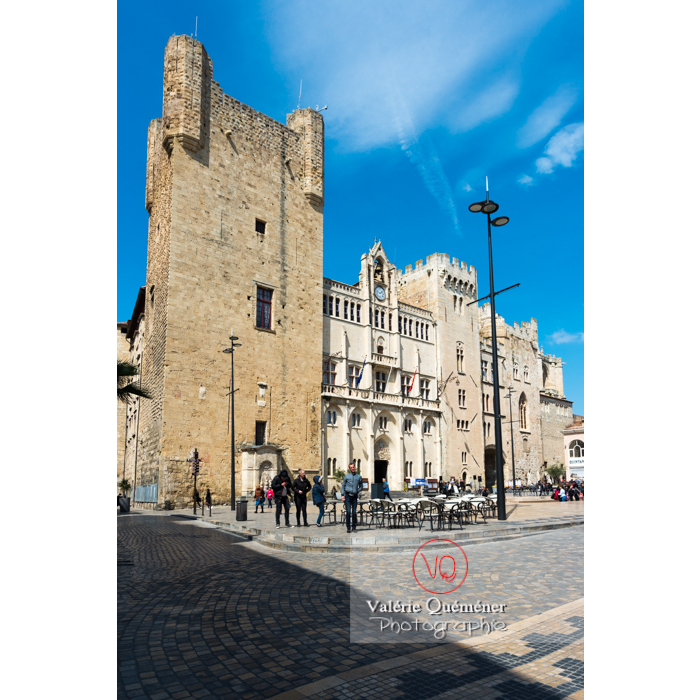 Palais des archevêques et hôtel de ville de Narbonne / Aude / Occitanie - Réf : VQFR11-0456 (Q3)