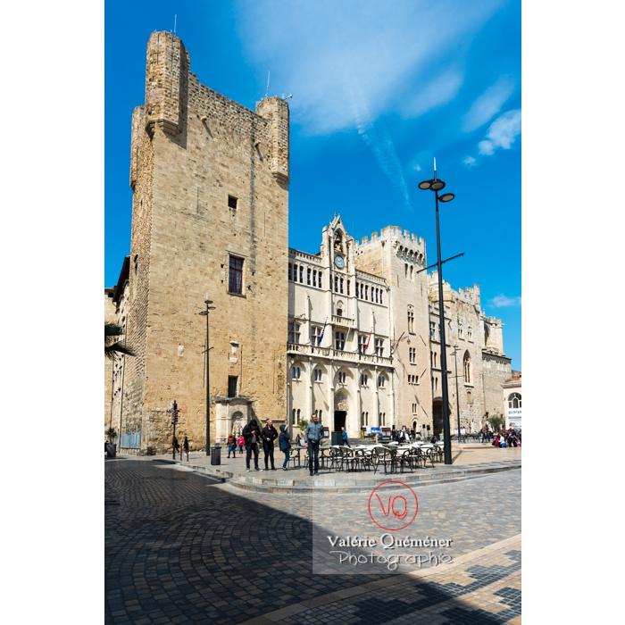 Palais des archevêques place de l'hôtel de ville à Narbonne - Réf : VQFR11-0456 (Q3)