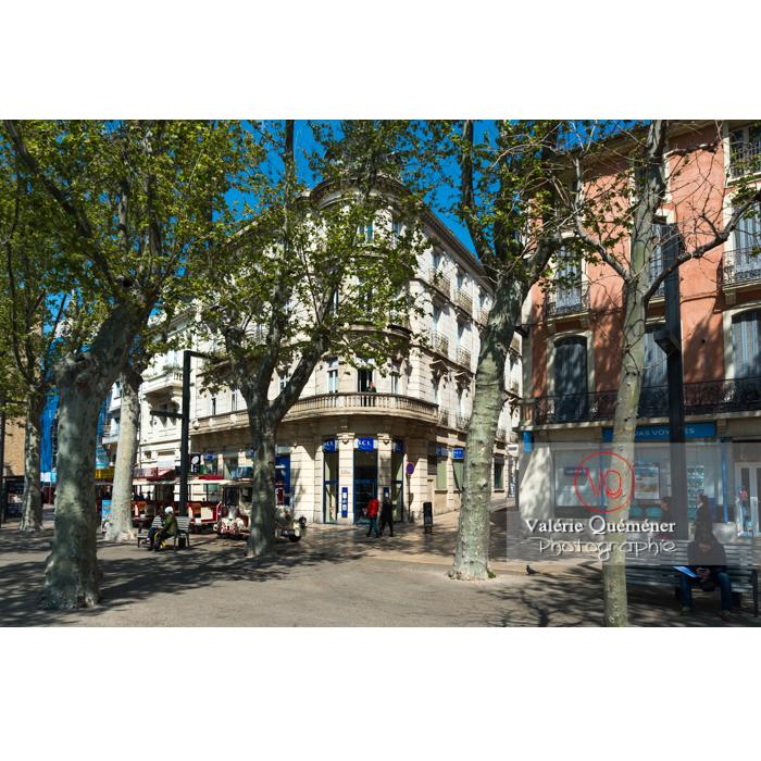 Cours de la République à Narbonne / Aude / Occitanie - Réf : VQFR11-0459 (Q3)