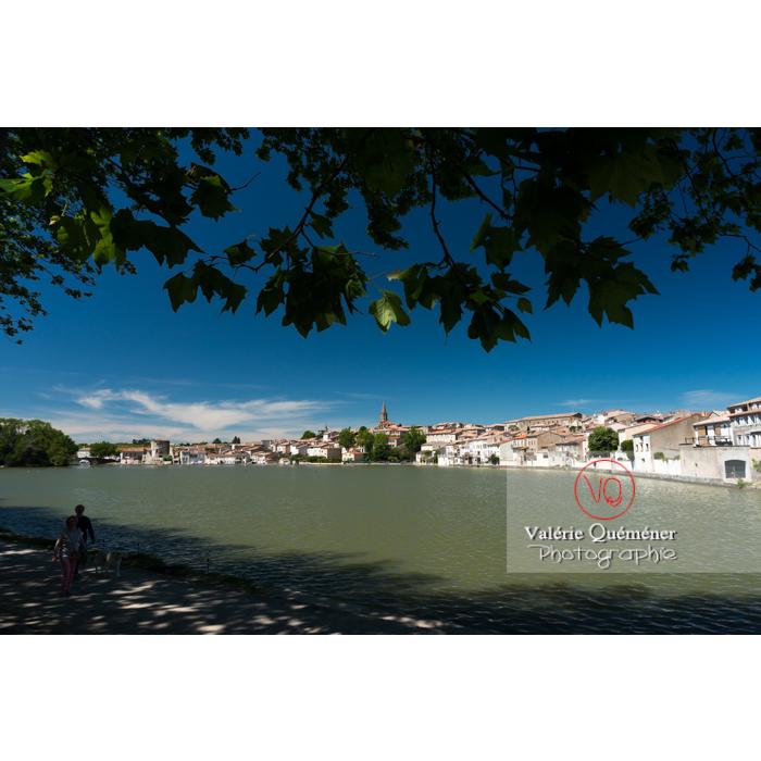 Village de Castelnaudary au bord du canal du midi / Aude / Occitanie - Réf : VQFR11-0670 (Q3)