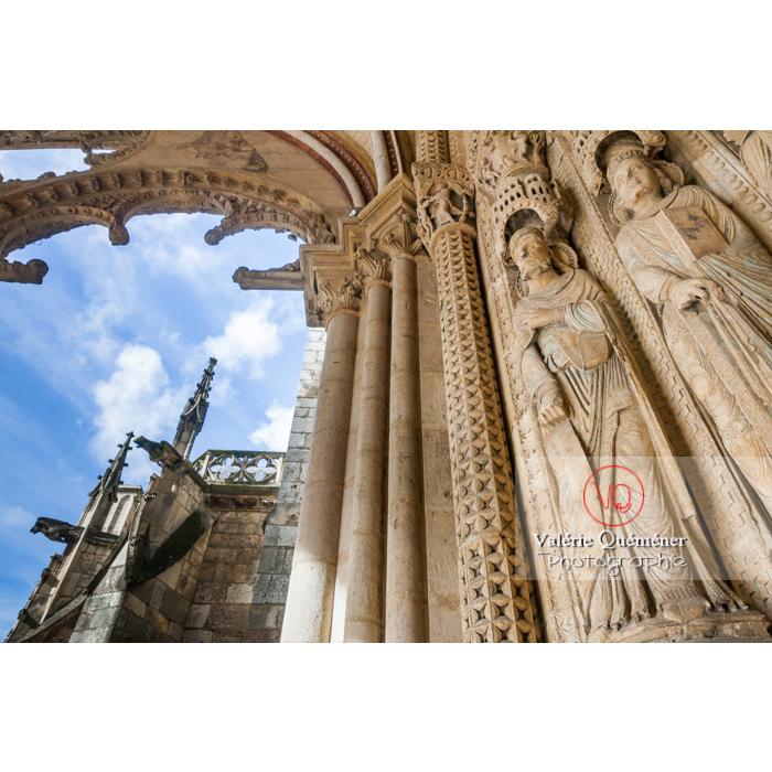 Sculpture de statues de la cathédrale Saint-Étienne de Bourges / Cher - Réf : VQFR18-0007 (Q2)