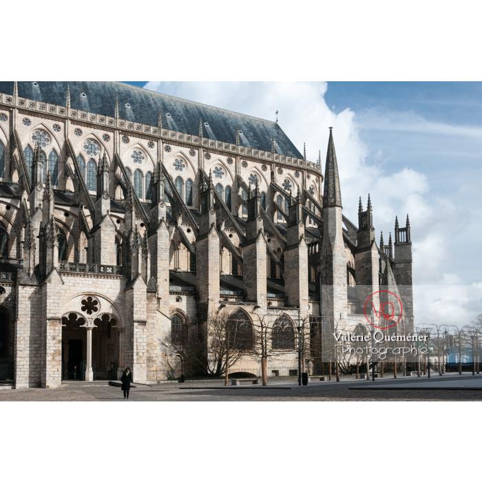 Contreforts de la cathédrale Saint-Étienne de Bourges / Cher - Réf : VQFR18-0013 (Q2)