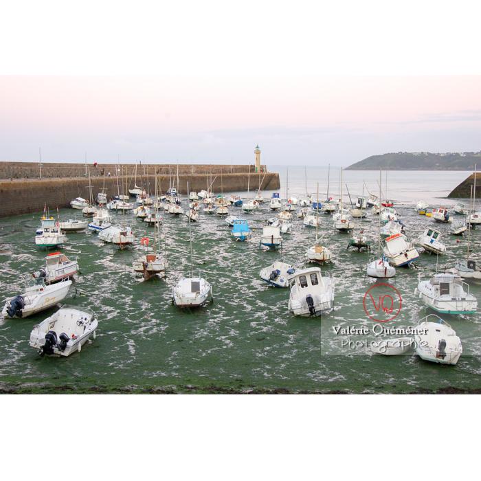 Port de Binic à marée basse au crépuscule / Côtes d'Armor / Bretagne - Réf : VQFR22-0149 (Q1)