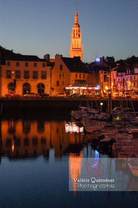 Port de Binic de nuit / Côtes d'Armor / Bretagne / Réf : VQFR22-0158 (Q1)
